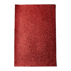 Independence Day Imitation Leather Fabric Sheets, with Glitter Sequin, for Making Leather Earring and DIY Crafts, FireBrick, 30x20x0.1cm(DIY-D025-D01)