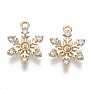 Real 18K Gold Plated Clear Brass+Cubic Zirconia Peg Bails(X-KK-S348-505-NF)