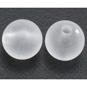 12mm Clear Round Acrylic Beads
