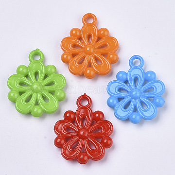 Mixed Color Flower Acrylic Pendants