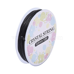 Elastic Crystal Thread, Stretchy String Bead Cord, for Beaded Jewelry Making, Black, 0.8mm, about 10.93 yards(10m)/roll(EW-S003-0.8mm-02)