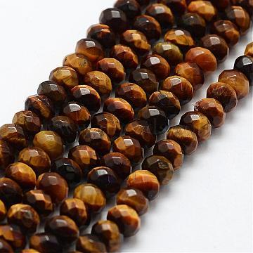 6mm Rondelle Tiger Eye Beads