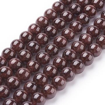 6mm DarkRed Round Garnet Beads