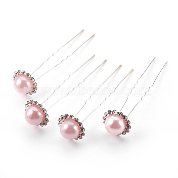 Silver Pink Iron Hair Forks