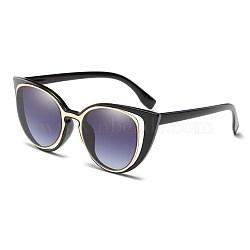 старинные очки для женщин, Пластиковые рамы и поликарбонатные линзы, серый, 14.3x4.7 cm(SG-BB22004-1)