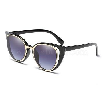 Vintage Glasses For Women, Plastic Frames and Polycarbonate Lenses, Gray, 14.3x4.7cm(SG-BB22004-1)