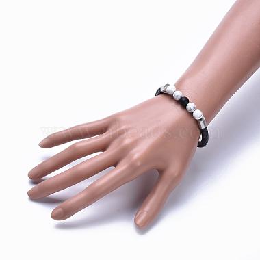Woman's Braided Leather Cord Bracelets(BJEW-JB04253-01)-4