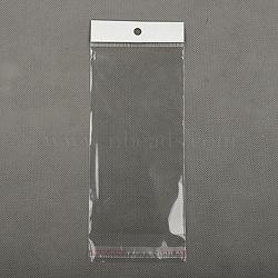 Pochettes en cellophane, matériel opp, adhésif, clair, 7x15 cm(X-T02H0012)