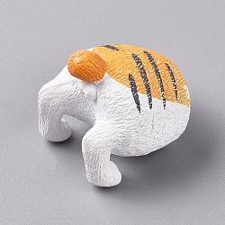 pvc cat butt réfrigérateur aimants drôle réfrigérateur photo aimants, décoration de bureau de bureau à domicile, animal amoureux des animaux de compagnie cadeaux, Sandybrown, 30.5x32.5x33 mm(AJEW-D044-01F)