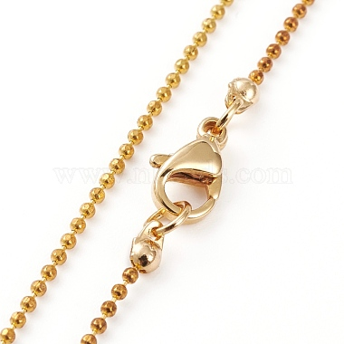 Golden Plated Brass Initial Pendant Necklaces(NJEW-JN03299-03)-2