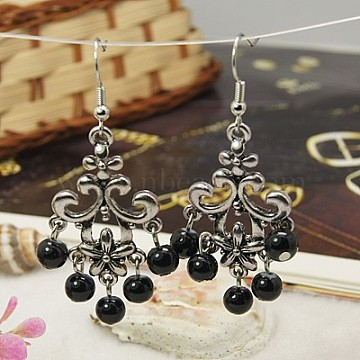 Dangle Earring Charms Vintage Charms Vintage Crystal and Aged Brass Dangle Charms