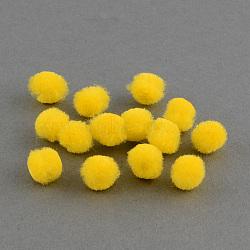 Poupée bricolage artisanat pom pom boules de pom pom, jaune, 15mm, environ 1000 pcs / sachet (AJEW-S006-15mm-02)