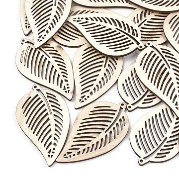70mm Wheat Leaf Wood Pendants