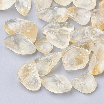 15mm Nuggets Citrine Beads
