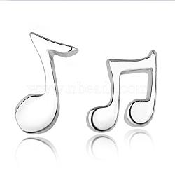 Серьги-гвоздики из настоящей музыкальной ноты, 18 мм; 8.8x5.8 мм; 7.4x8шт / набор(EJEW-EE0002-002)