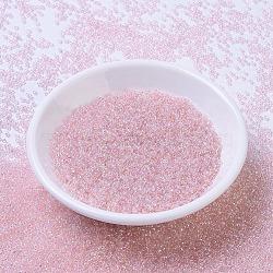 MIYUKI&reg Round Rocailles Beads, Japanese Seed Beads, 11/0, (RR292) Light Tea Rose AB, 2x1.3mm, Hole: 0.8mm; about 1111pcs/10g(X-SEED-G007-RR0292)