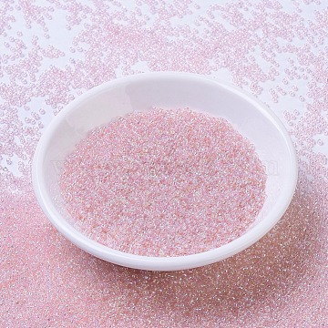 MIYUKI Round Rocailles Beads, Japanese Seed Beads, 11/0, (RR292) Light Tea Rose AB, 2x1.3mm, Hole: 0.8mm; about 1111pcs/10g(X-SEED-G007-RR0292)