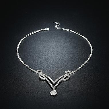 Shining Brass Rhinestone Wedding Bride Jewelry Sets(SJEW-BB15886)-4