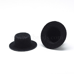 Cloth Hat Decoration, DIY Craft Decoration, with Plastic inside, Black, 40~41x16mm(X-AJEW-R078-4.0cm-07)
