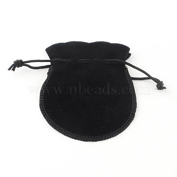 Velvet Jewelry Bag, Black, 90x70mm(TP-S003-4)