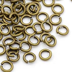 Accessoires à bijoux anneaux de jonction en bronze antique, laiton, environ 5 mm de diamètre, 1 mm d'épaisseur; environ 3 mm de diamètre intérieur, environ 120 pcs/10 g(X-JRC5MM-AB)