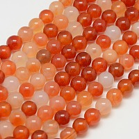 Natural Carnelian Beads Strands, Round, Grade A, 8mm, Hole: 1mm, about 45pcs/strand, 16 inches