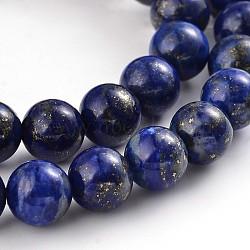 """Chapelets de perles rondes en lapis-lazuli naturel, 8mm, trou: 1mm; environ 49 pcs/chapelet, 15.5""""(G-M230-02-8mm)"""