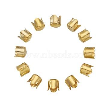 Iron Bead Caps, Flower, 4-Petal, Golden, 6.5x7mm, Hole: 1mm(IFIN-TA0001-07G)