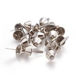 Alliage sac à main sac à main pieds cônes, spike clous à clous brad, platine, 20x12mm(PALLOY-WH0053-03B)