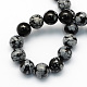 Natural Snowflake Obsidian Round Beads Strands(X-G-S172-6mm)-2