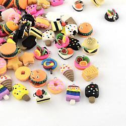 ручной пищевые подвески полимерная глина, платина, cmешанный цвет, 17~29x13~20x7~21 mm, отверстия: 2 mm(X-CLAY-R060-112)