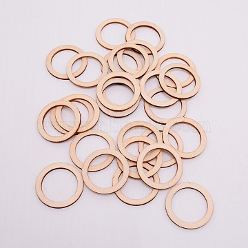 Unfinished Wood Linking Rings, Laser Cut Wood Shapes, for DIY Crafts and Jewelry Making, Tan, 40x2.5mm, Inner Diameter: 30mm(WOOD-WH0099-12C)