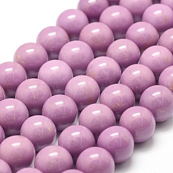brins naturels de perles de phosphosidérite, arrondir, 12 mm, trou: 2 mm; environ 32 perle / brin, 15.7 (40 cm)(G-F475-05-12mm)