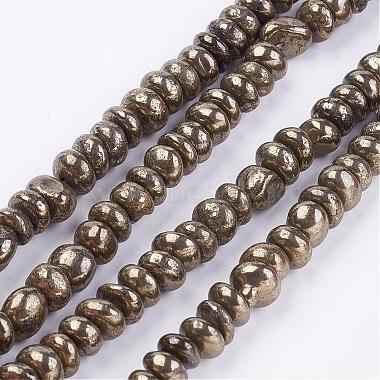 7mm Nuggets Pyrite Beads
