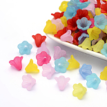 15mm Mixed Color Flower Acrylic Beads(PL692)