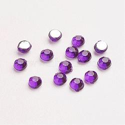 Акриловые стразы - кабошоны , граненые, полукруглый, темно-фиолетовые, 2.5x1 мм ; около 10000 шт / мешок(GACR-A002-2.5mm-22)