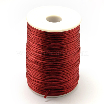 Polyester Cord, FireBrick, 2mm; about 80yards/roll(73.152m/roll)(NWIR-R001-32)