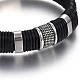 Leather Braided Cord Bracelets(BJEW-E352-36P)-2