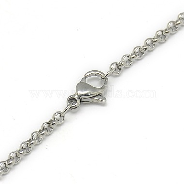 Trendy Unisex 304 Stainless Steel Cross Rolo Chain Necklaces(X-NJEW-L043A-09P)-3