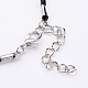 Antique Silver Alloy Skull Waxed Cord Pendant Necklaces(NJEW-O087-10)-3