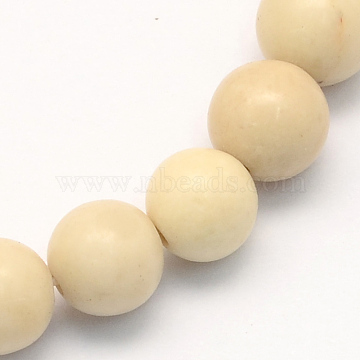 Natural Fossil Round Beads Strands, 6.5mm, Hole: 1mm; about 63pcs/strand, 15.5inches(X-G-S171-6mm)