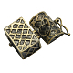 Brass Prayer Box Pendants(X-KK-24X16-AB)-3