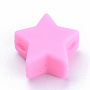 14mm HotPink Star Silicone Beads(X-SIL-T041-07)