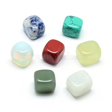 Natural & Synthetic Mixed Stone Beads, No Hole/Undrilled, Cube, 14~16x14~16x14~16mm(G-Q481-47)