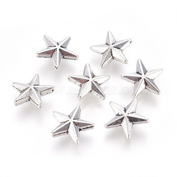 12mm Star Alloy Beads