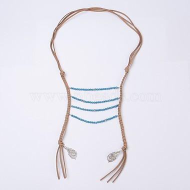 Natural & Synthetic Mixed Stone Tiered Necklaces(NJEW-JN02124)-2